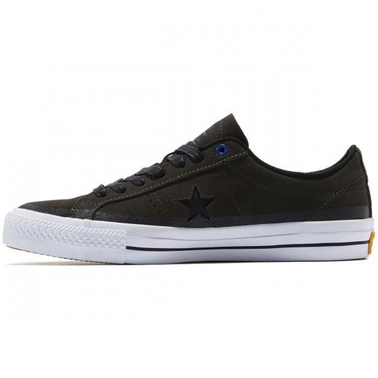 Converse One Star Pro Shoes - Cast Iron/Black/White - 8.0
