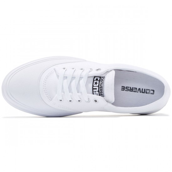 Converse Crimson OX Canvas Shoes - White/Black/Natural - 8.0
