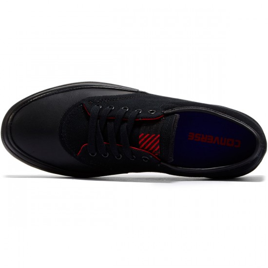 Converse Crimson OX Canvas Shoes - Black/Blue/Casino - 8.0