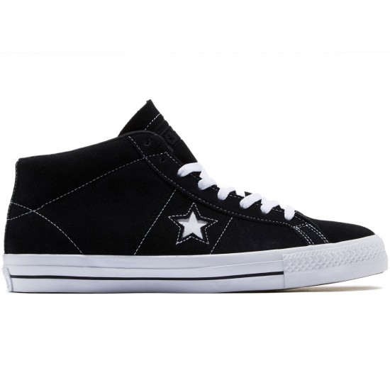 Converse One Star Pro Shoes - Black/White/Black - 10.0
