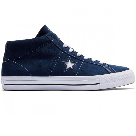 Converse One Star Pro Shoes - Navy/White/Black - 8.0