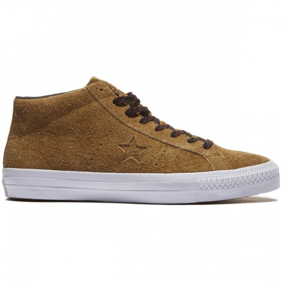 Converse One Star Pro Suede Shoes - Antiqued/Black/White - 8.0