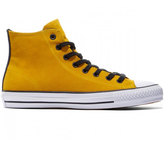 Converse CTAS Pro Suede Shoes - Yellow/Black/Obsidian - 8.0