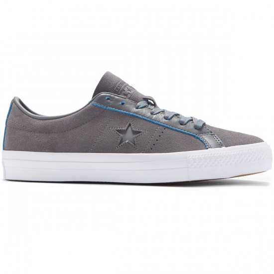 Converse One Star Pro Ox Shoes - Charcoal Grey/Soar White - 8.0