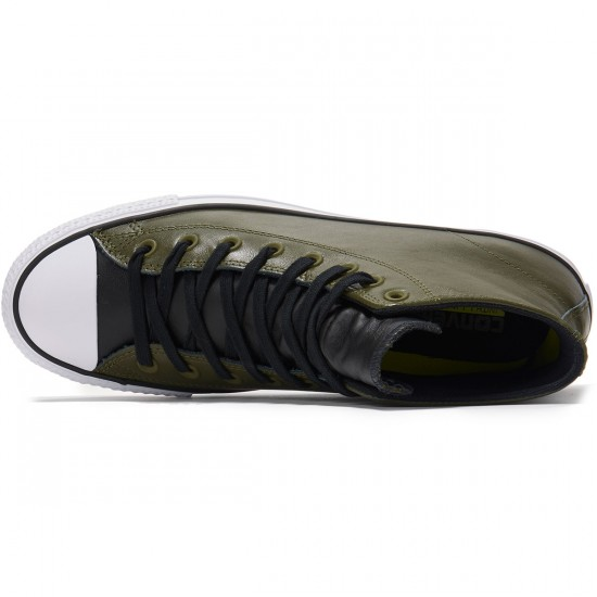Converse CTAS Pro Leather Shoes - Herbal/Black/White - 8.0