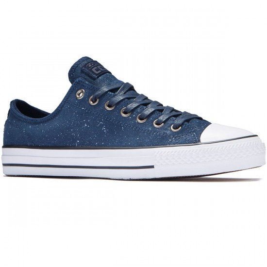 Converse CTAS Pro OX Pepper Suede Shoes - Obsidian/White/Obsidian - 8.0