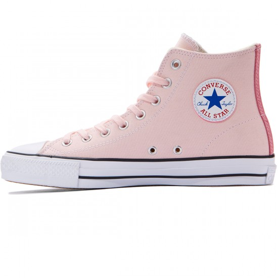 Converse CTAS Pro Hi Suede Backed Shoes - Vapor Pink/Pink Glow/Natural - 8.0