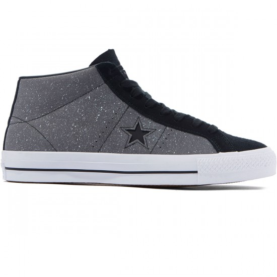 Converse One Star Pro Mid Shoes - Mason/Black - 8.0