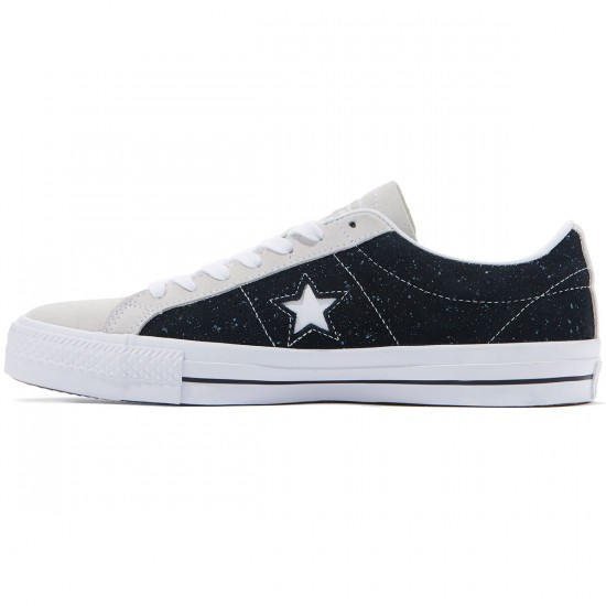 Converse One Star Pro Ox Shoes - Black/White - 8.0