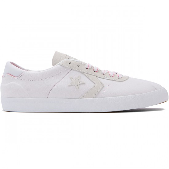 Converse Breakpoint Pro OX Shoes - White/White/Pink Glow - 8.0