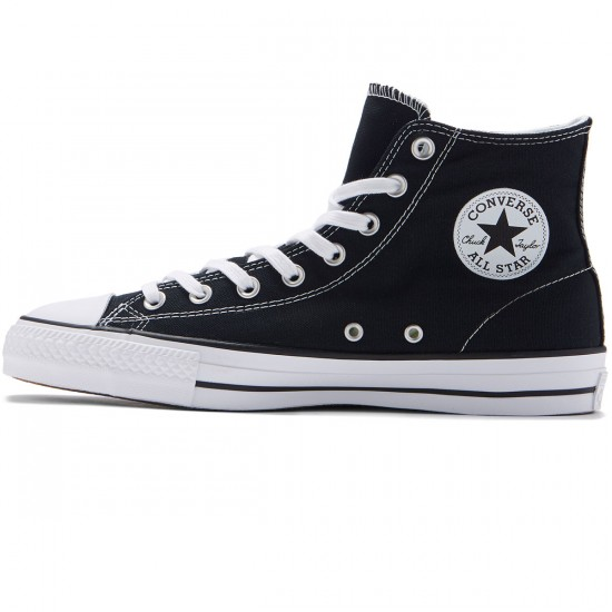Converse CTAS Pro Hi Shoes - Black/White/Black - 8.0