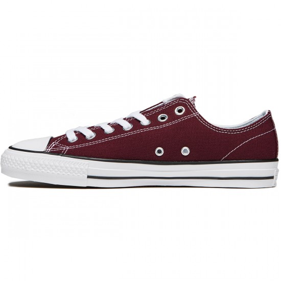 Converse CTAS Pro Shoes - Dark Sangria/White/White Canvas - 8.0