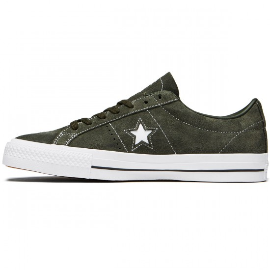 Converse One Star Pro Shoes - Sequoia/Sequoia/White Suede - 8.0