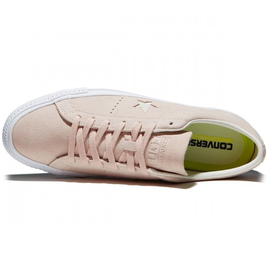 Converse One Star Pro Shoes - Dusk Pink/Egret/White Suede - 7.0