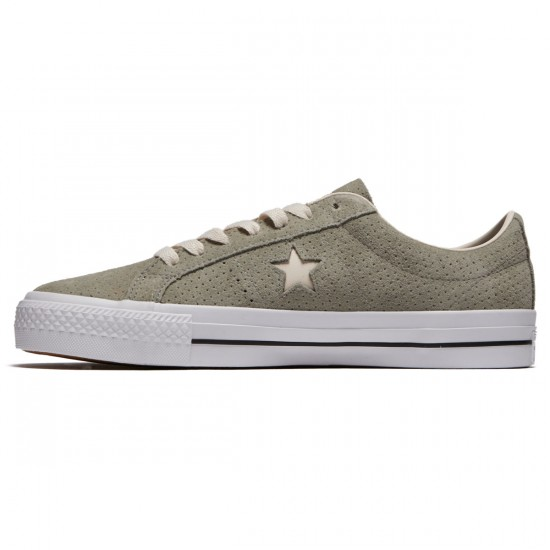Converse One Star Pro Ox Shoes - Dark Stucco/Driftwood/White - 7.0