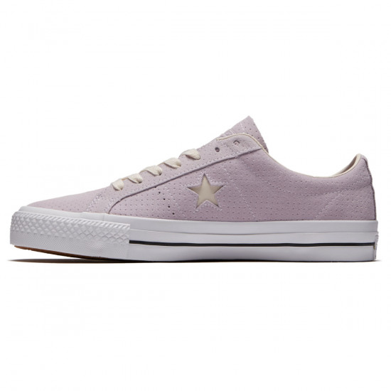Converse One Star Pro Ox Shoes - Barely Grape/Driftwood/White - 7.0