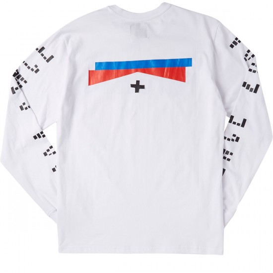 Mighty Healthy Drifter Long Sleeve T-Shirt - White