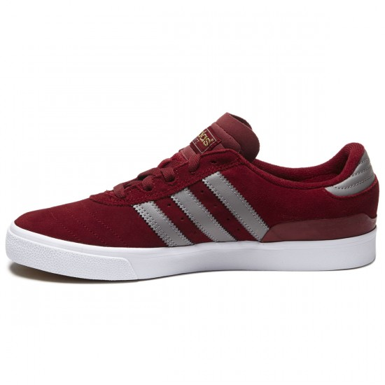 Adidas Busenitz Vulc Shoes - Burgundy/Grey/White - 8.0