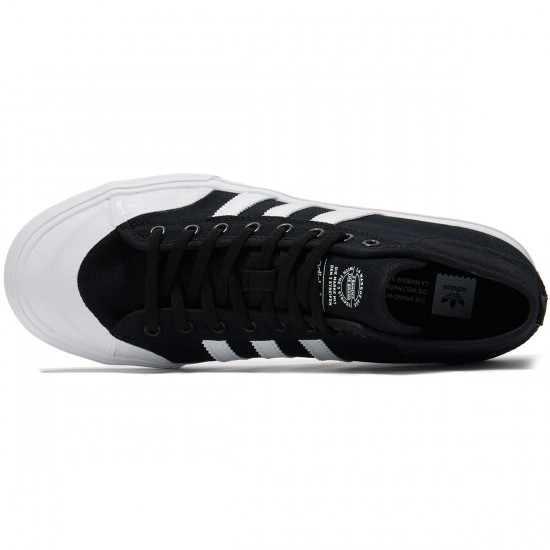 Adidas Matchcourt Mid Shoes - Black/White/White - 8.0