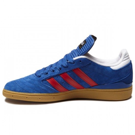 Adidas Busenitz Shoes - Blue/Scarlet/White - 8.0