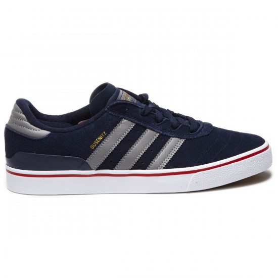 Adidas Busenitz Vulc Shoes - Navy/Grey/Scarlet - 8.0