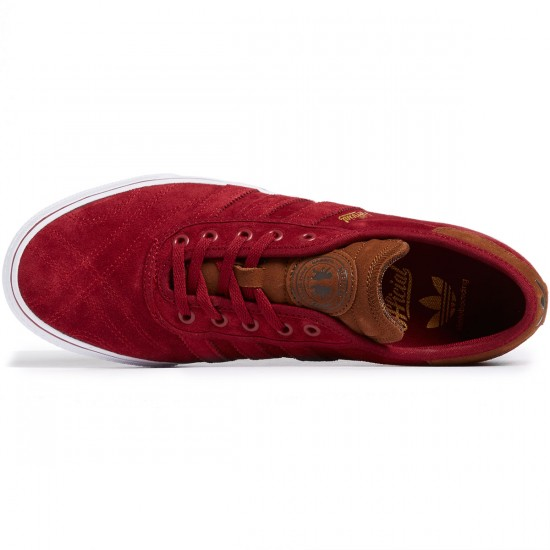 Adidas X Official Adi-Ease Premiere ADV Shoes - Burgundy/Bark/White - 8.0