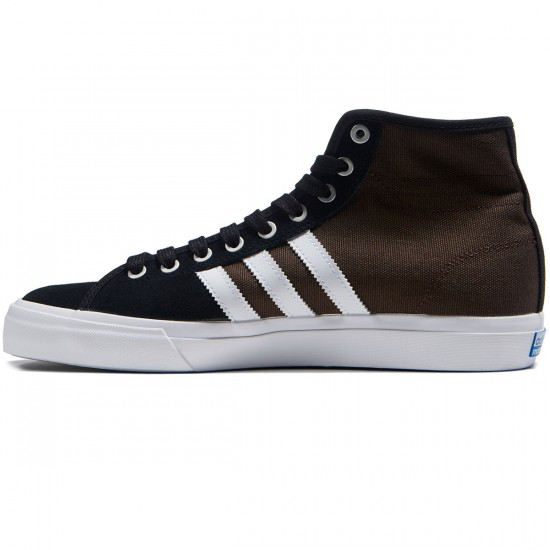 Adidas Matchcourt High RX Shoes - Black/White/Brown - 8.0