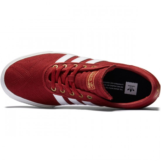 Adidas Adi-Ease Premiere Shoes - Mystery Red/Crystal White/Gold Metallic - 8.0