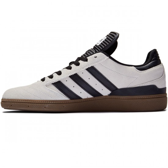 Adidas Busenitz Shoes - Crystal White/Black/Gum - 7.0