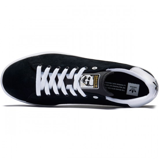 Adidas Stan Smith Vulc Shoes - Black/Black/White Suede - 8.0