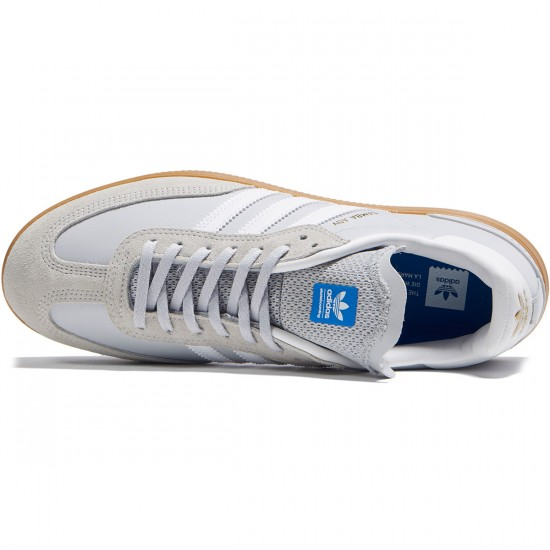 Adidas Samba ADV Shoes - Light Grey/White/Bluebird - 7.0