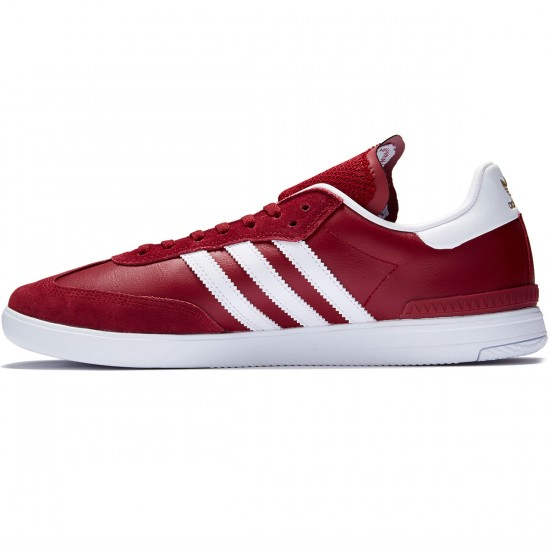 Adidas Samba ADV Shoes - Collegiate Burgundy/White/Bluebird - 7.0