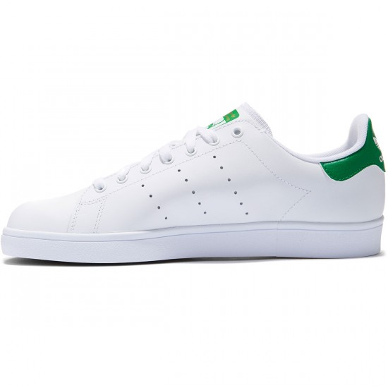 Adidas Stan Smith Vulc Shoes - White/White/Green - 8.0