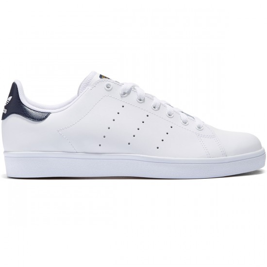 Adidas Stan Smith Vulc Shoes - White/White/Navy - 8.0