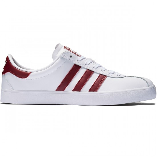 Adidas Skate ADV Shoes - White/Collegiate Burgundy/Gum - 8.0