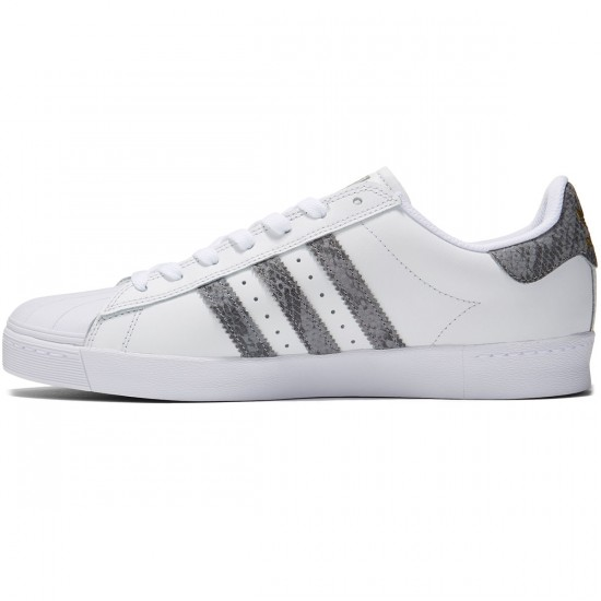 Adidas Superstar Vulc Adv Shoes - Crystal White/Solid Grey/White - 8.0