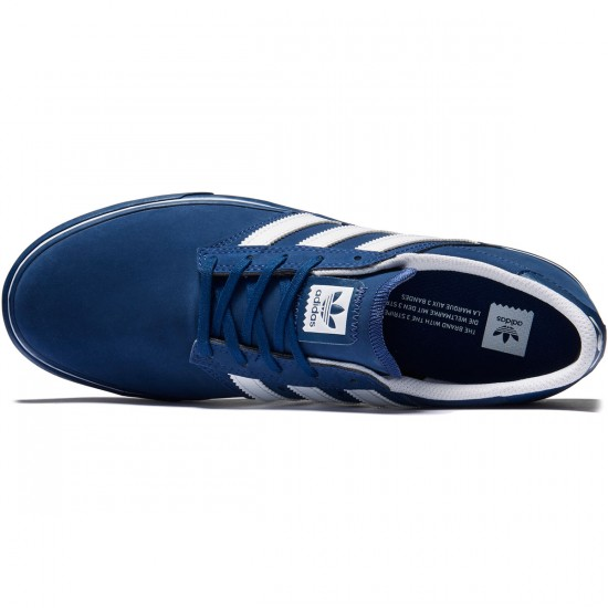 Adidas Seeley Premiere Shoes - Mystery Blue/White/Mystery Blue - 8.0