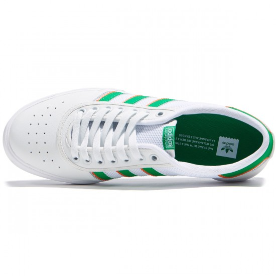 Adidas Lucas Premiere ADV Shoes - White/Green/White - 7.0