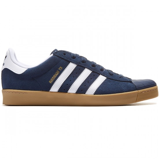 Adidas Superstar Vulc Adv Shoes - Navy/White/Gum - 8.0