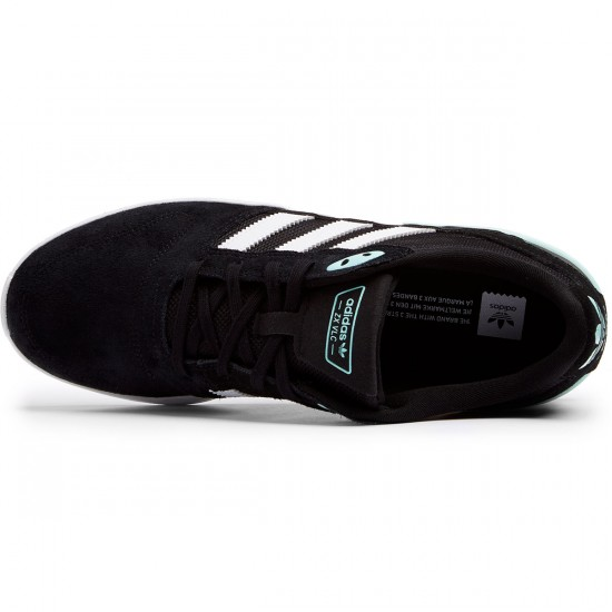 Adidas ZX Vulc Shoes - Black/White/Ice Green - 8.0