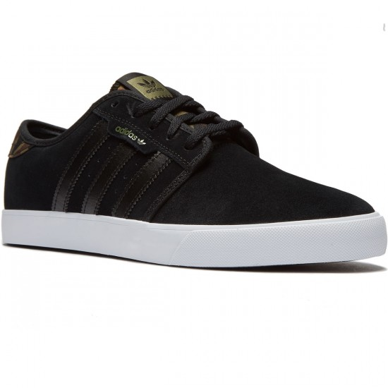 Adidas Seeley Shoes - Black/Olive Cargo/White - 8.0