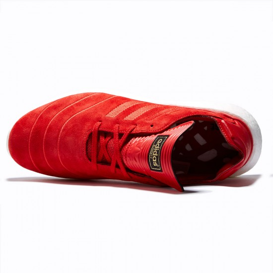 Adidas Busenitz Pure Boost Shoes - Scarlet/Scarlet/White - 8.0