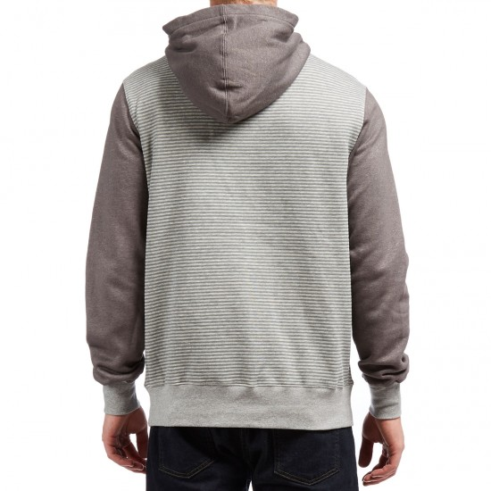 Etnies Point A Henley Hoodie - Grey/Light Grey