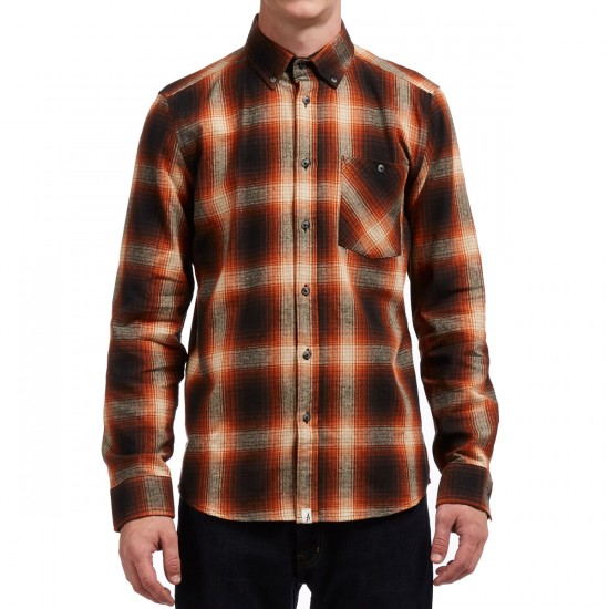 Altamont Reynolds Flannel Shirt - Black/Orange