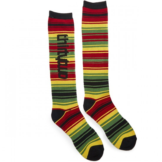 Thirty Two Linear Socks - Red/Black - LG/XL