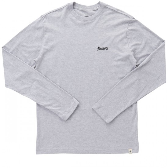 Altamont One Liner Embroidery Long Sleeve T-Shirt - Grey/Heather