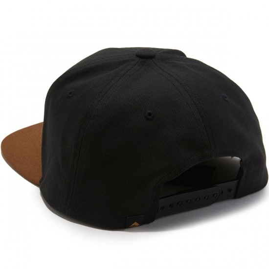 Emerica Triangle Snapback Hat - Black/Brown