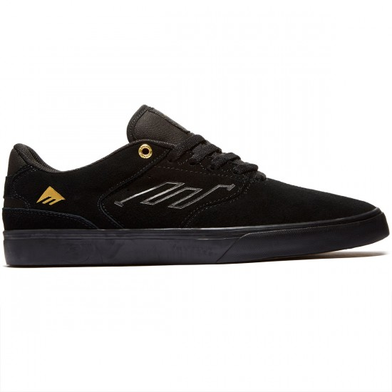 Emerica The Reynolds Low Vulc Shoes - Black/Gold - 8.0