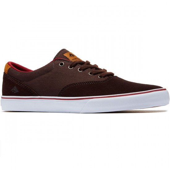 Emerica Provost Slim Vulc Shoes - Brown/White - 8.0