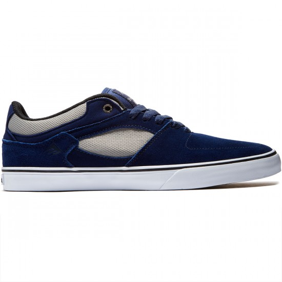 Emerica The Hsu Low Vulc Shoes - Navy/Grey - 8.5